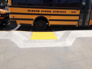 Spec. Ed. SAUSD Bus Blocks Access to Ramp.