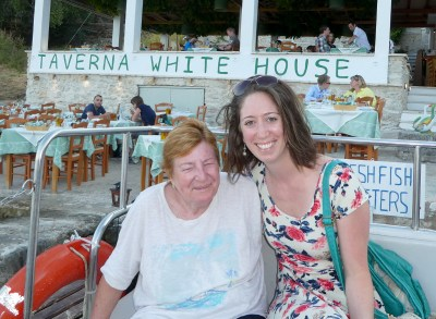 Trip - Di and Becka at the Taverna White House