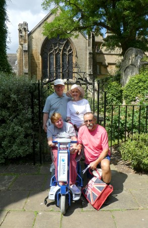 Trip - Don, Kathy, Di and Joe - University College, Oxford
