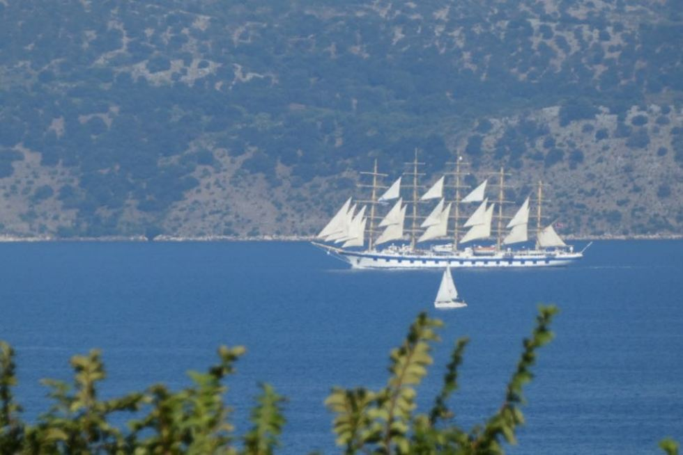 View from Corfu to mainland Greece/Albania.
