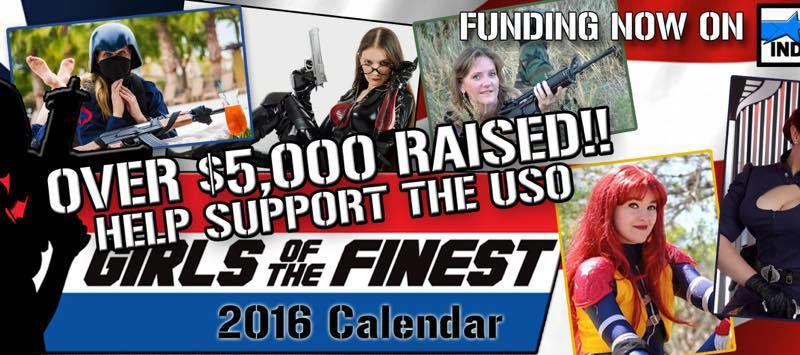 Girls of the Finest 2016 calendar banner