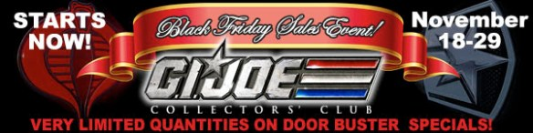 G.I. Joe Collector's Club Black Friday Sale