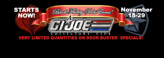 G.I. Joe Collector's Club Black Friday 2016