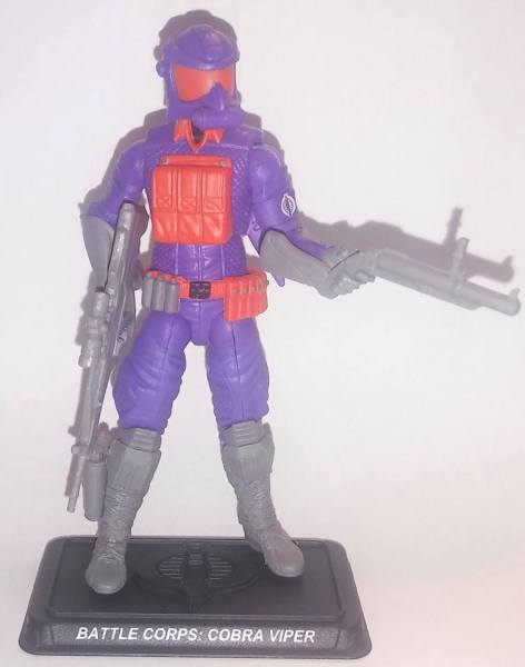 gi joe FSS 5 Battle Corps Cobra Viper front