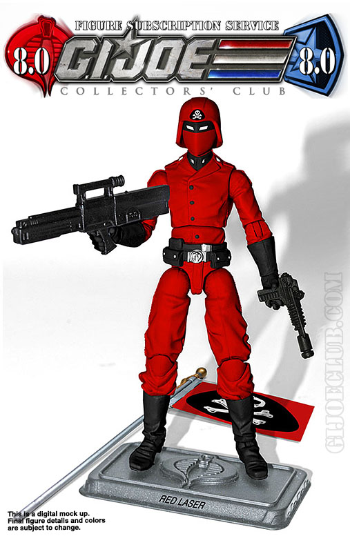 G.I. Joe Collector's Club FSS 8 Red Laser