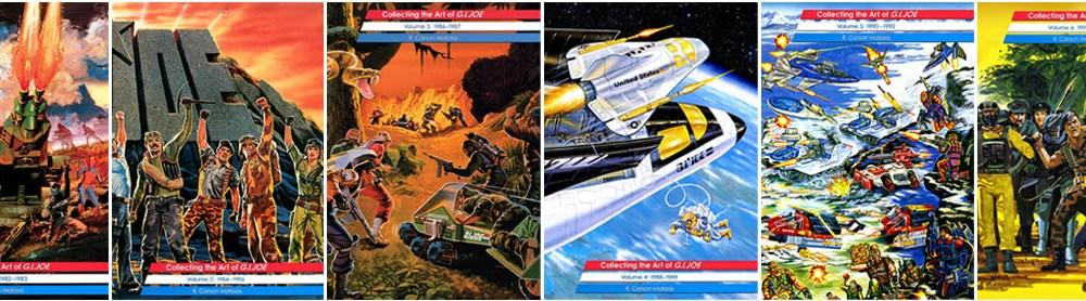 3DJoes Collecting the Art of G.I. Joe six volumes