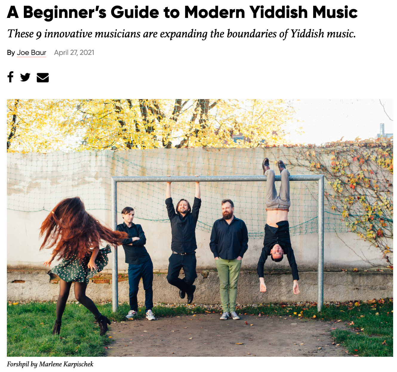 A Beginner's Guide to Modern Yiddish Music - Alma