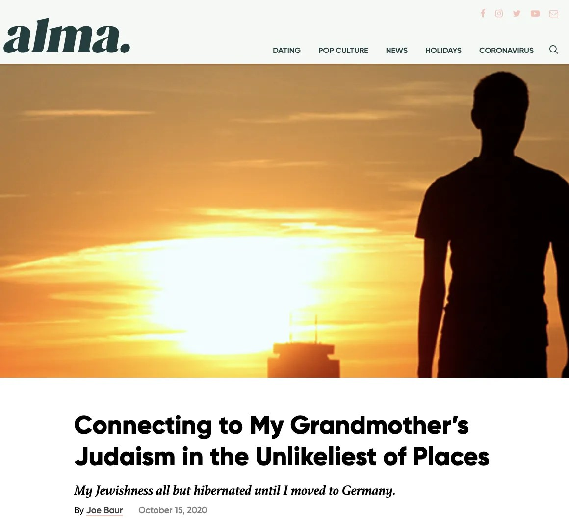 Connecting to My Grandmother's Judaism in the Unlikeliest of Places –– Alma