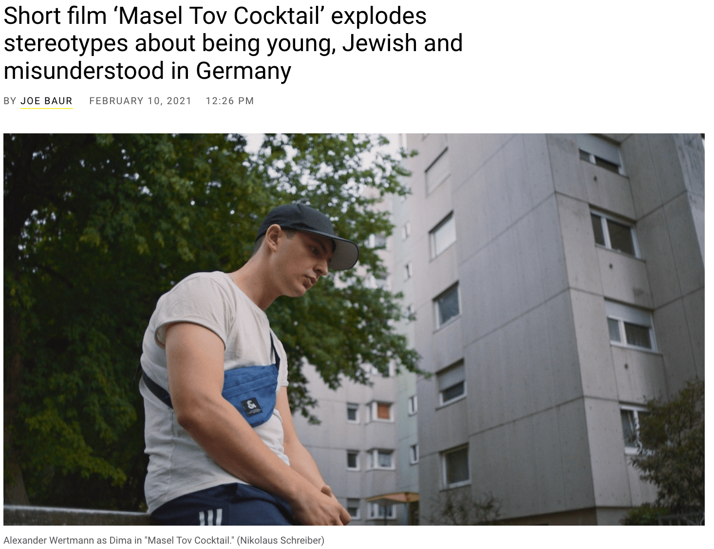 Short film 'Masel Tov Cocktail' explodes stereotypes about being young, Jewish and misunderstood in Germany - Jewish Telegraphic Agency