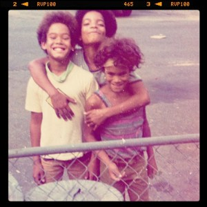 L-R: My brother Roland, Earl, me
