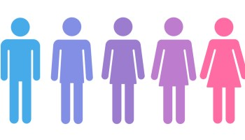 An image of people on the gender spectrum used on the blog of a trans affirming therapist.