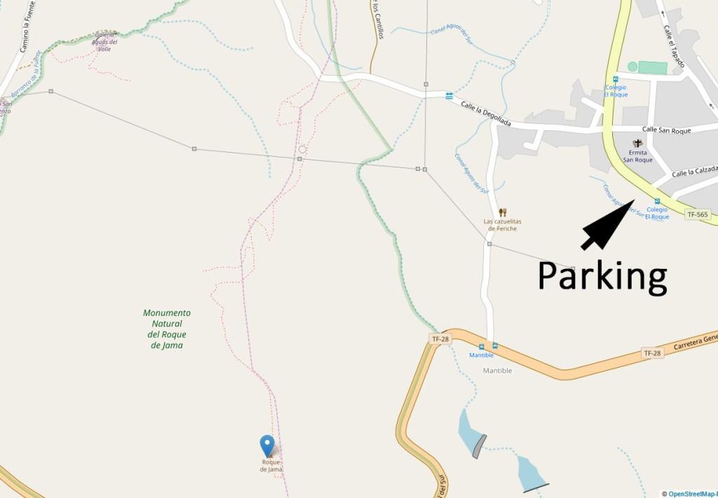 Parkplatz und Weg