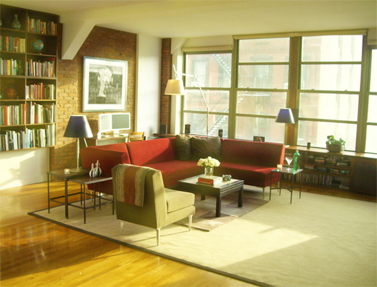 New York Interior Design NYC Joe Cangelosi West Village Loft Living Room Large