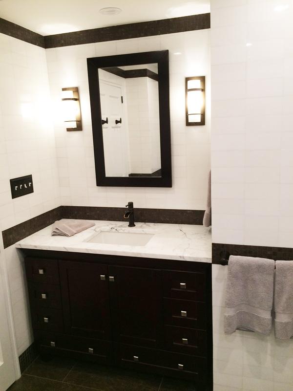 Interior Design New York NYC Joe Cangelosi West Village Vacation House Bathroom Vanity