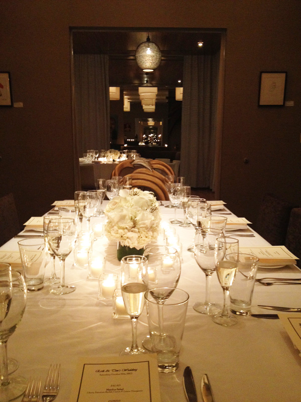 Interior Design New York Joe Cangelosi NYC Wedding Table Design 2