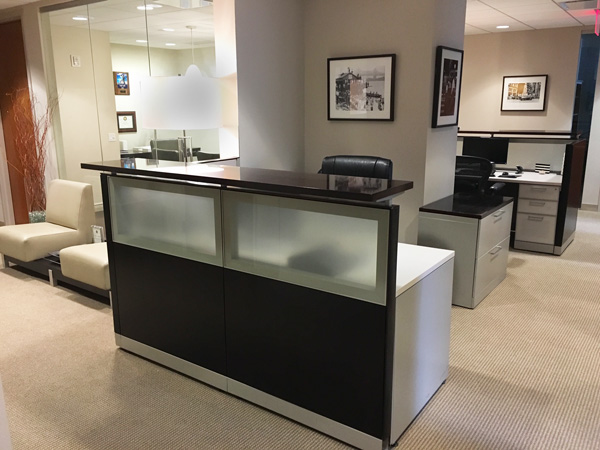 New York Joe Cangelosi NYC Office Design Lobby Receptionist Desk