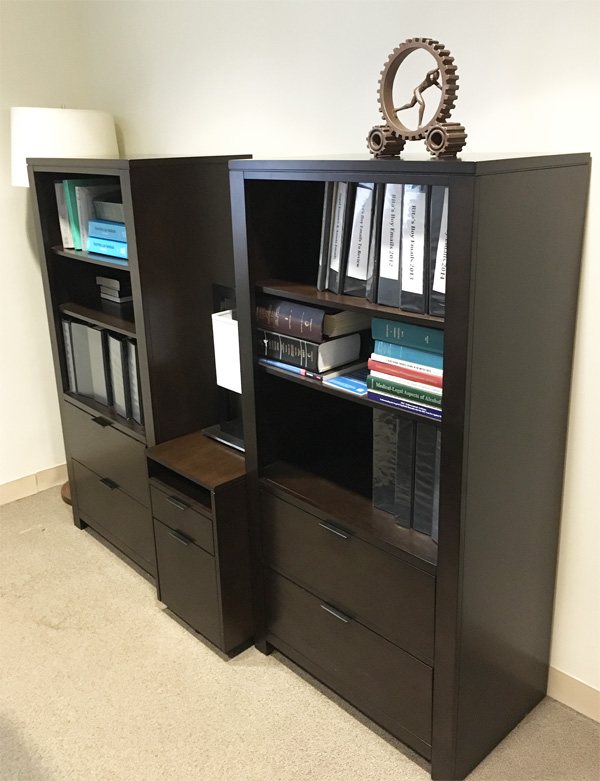 New York Joe Cangelosi NYC Office Design Attorney Bookcase