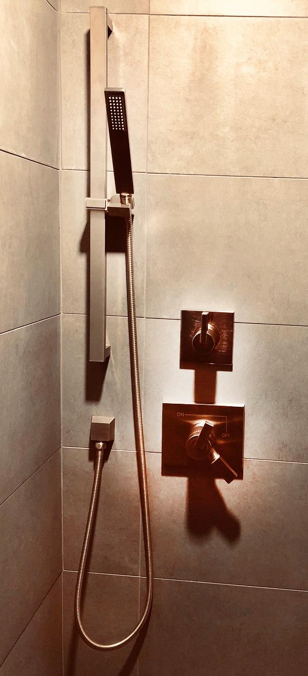 Interior Design New York Joe Cangelosi NYC Sexy Masculine Bathroom Shower 2