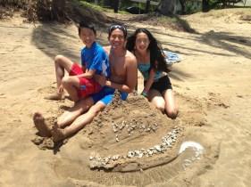 Maui sand castle