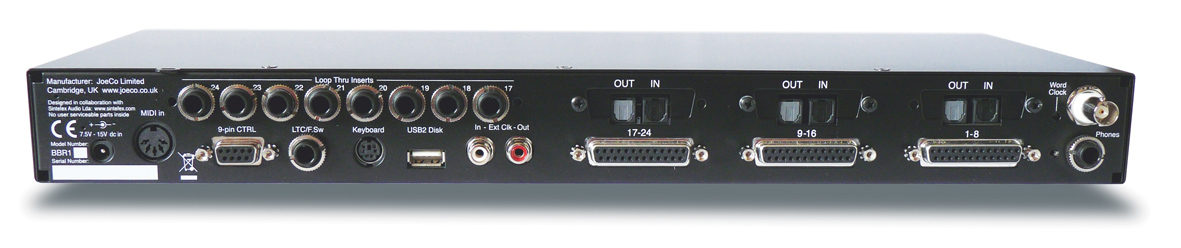 JoeCo Blackbox Recorder - BBR1A - Rear Panel