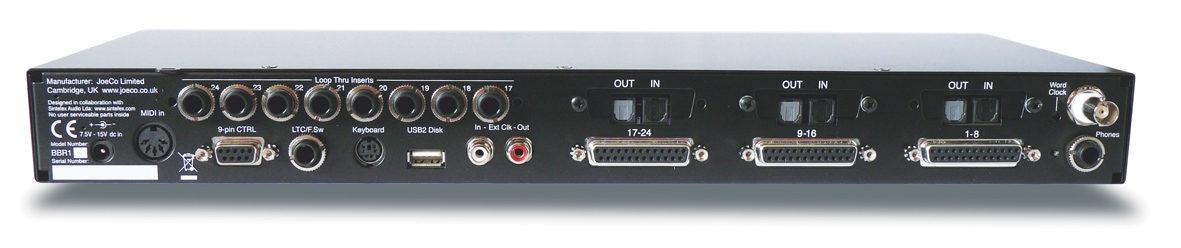 JoeCo Blackbox Recorder - BBR1A - Rear Panel
