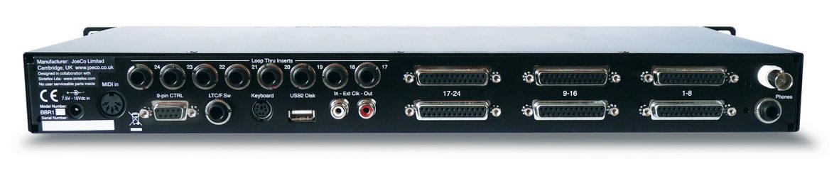 JoeCo Blackbox Recorder - BBR1D - Rear Panel
