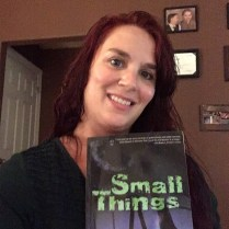 Anisha Tull Armontrout with her copy of Small Things