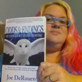 Tamrah Meharg with her copy of Odds & Endings