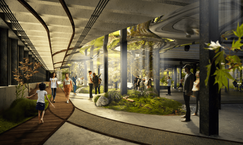 The Lowline, located in a one-acre former trolley terminal under Delancey Street, will use proprietary solar technology to become the world's first underground park.
