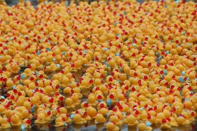 Solid rubber duckies