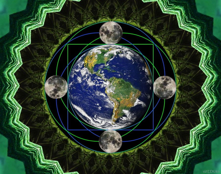 earth moon square the circle