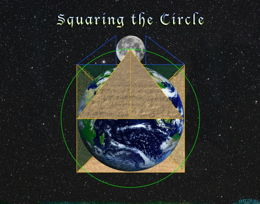 Squaring the Circle with Earth and Moon