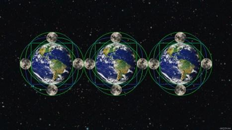 Moon Earth Art
