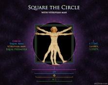 Vitruvian Man Square the Circle 2