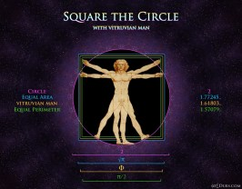 Vitruvian Man Square the Circle 2