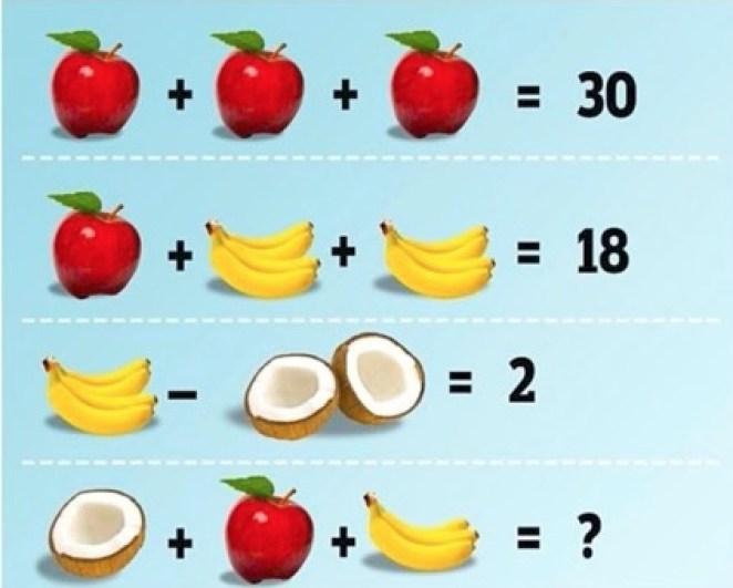 fruit puzzle brain teaser