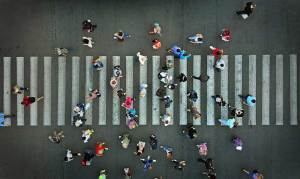 Pedestrian crossing near Albany