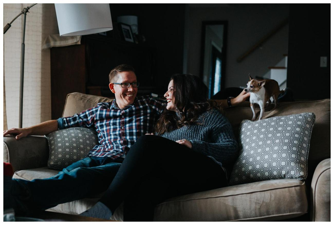 In Home Engagement | Cambridge Winter Engagement