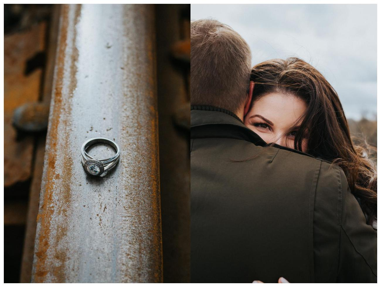 Ring Details | Engagement Inspiration | Cambridge Winter Engagement