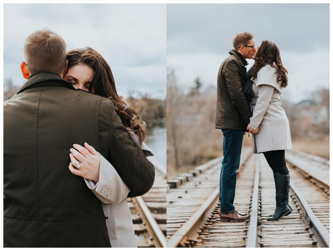 Train Tracks | Engagement Inspiration | Cambridge Winter Engagement