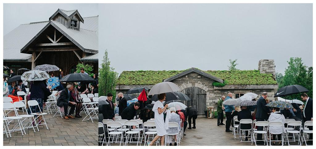 Rainy Wedding Day, luckily all the guests were given umbrellas | Hanover Wedding |