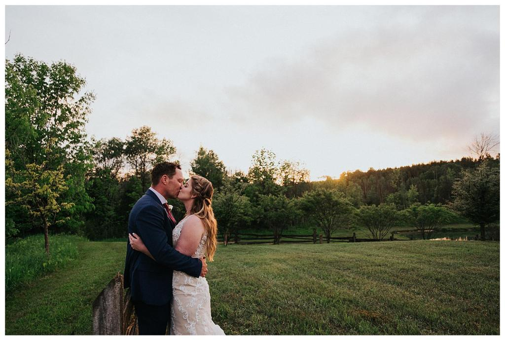 Sunset kisses are the best kisses | Rustic Wedding Inspiration | The Special Events Centre Wedding