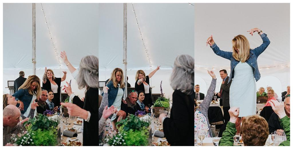 When the guests are so into the speeches they get on the table - priceless | Reception Speeches