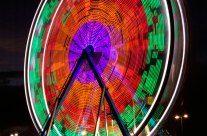 Photographing a Ferris Wheel at Night