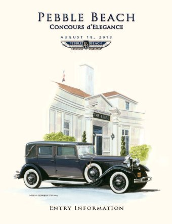 2013 Pebble Beach Concours D'elegance Celebrates Lincolns To Lamborghinis