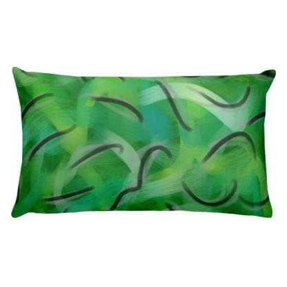 Envy Me Green rectangular pillow