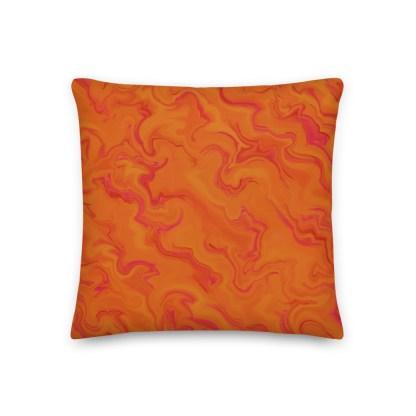 Bless This Mess orange premium pillow