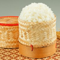 How to Make Thai Sticky Rice ข้าวเหนียว and Toasted Rice Powder ข้าวคั่ว