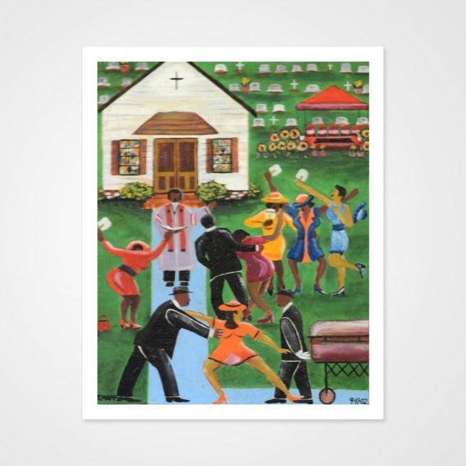 Black Folks Family Reunion by Johnny Mapp - Glossy Paper Print