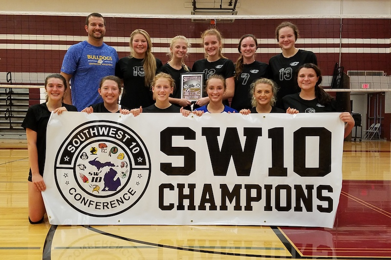 Centreville volleyball gets revenge with win over Mendon in Southwest 10 Conference tourney finals